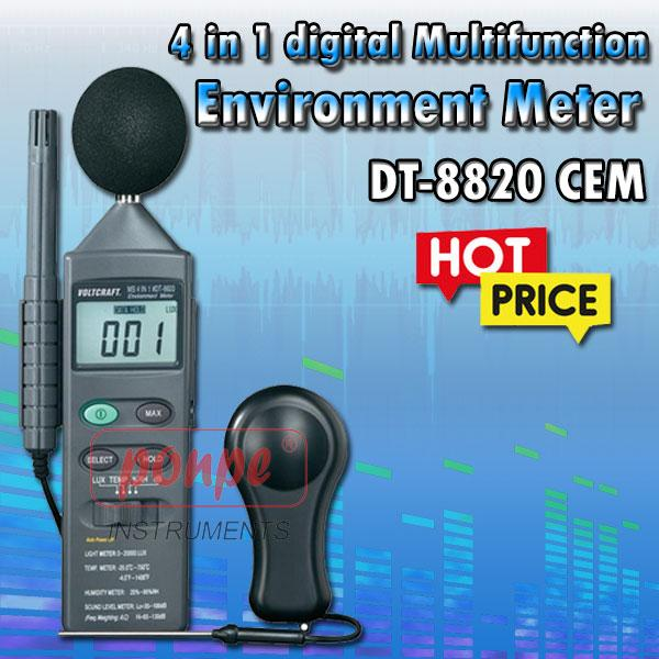 DT-8820 / CEM 4 in 1 digital Multifunction Environment Meter