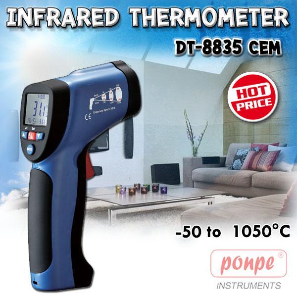 DT-8835 / CEM เครื่องวัดอุณหภูมิ อินฟราเรด 2 in 1 Infrared Thermometer