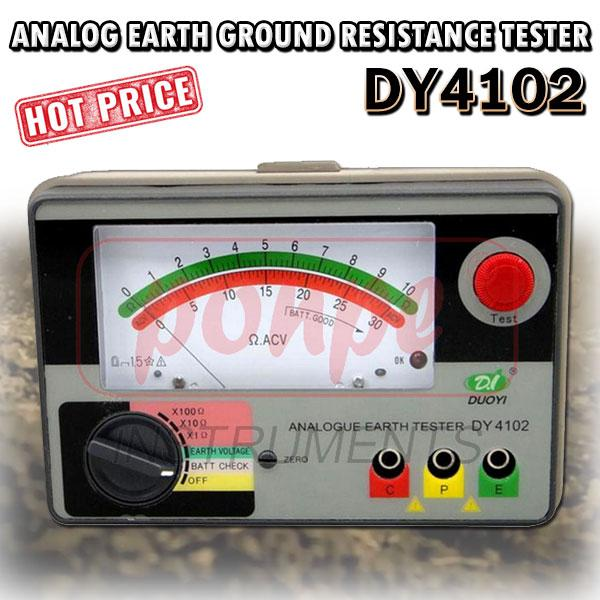 Analog Earth Ground Resistance Tester DY4102