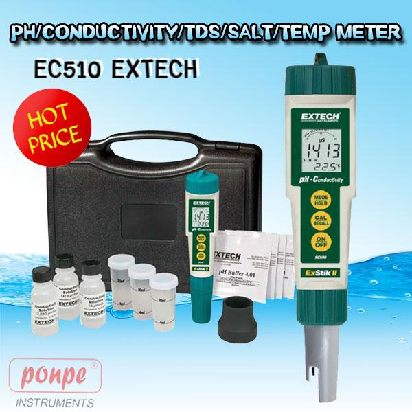 EC510 EXTECH Waterproof ExStik II pH/Conductivity/TDS/Salt/Temp Meter EC510