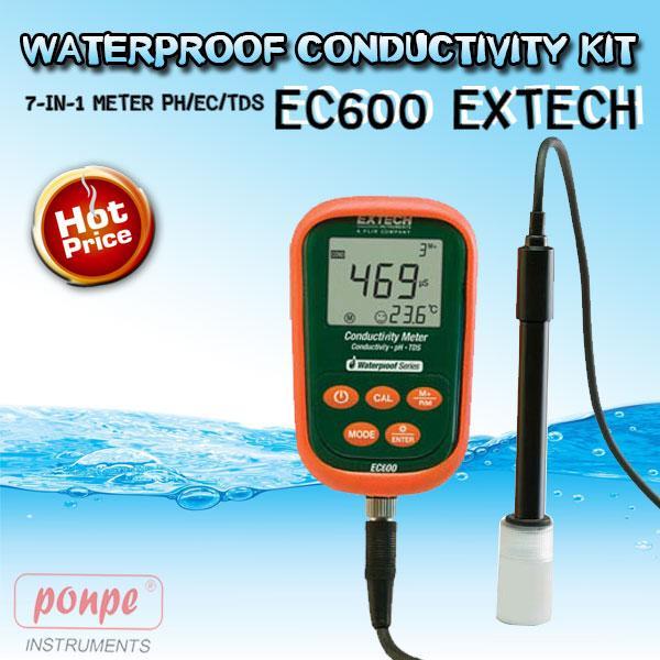 EC600 EXTECH เครื่องวัดกรดด่าง Waterproof Conductivity Kit 7-in-1 Meter pH/EC/TDS