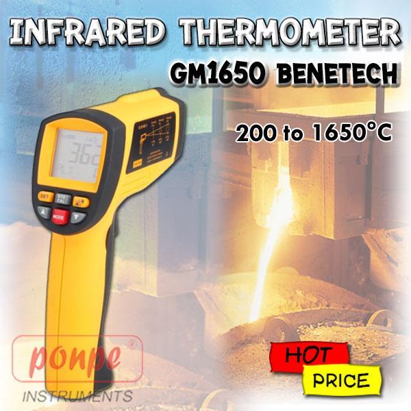 GM1650 Benetech เครื่องวัดอุณหภูมิอินฟราเรด Infrared Thermometer