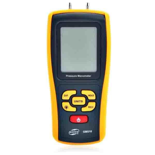 GM510 BENETECH เครื่องวัดความดันลม LCD Display Pressure Manometer