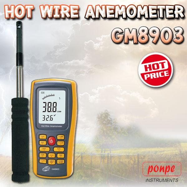 GM8903 BENETECH เครื่องวัดความเร็วลม Hot Wire Anemometer