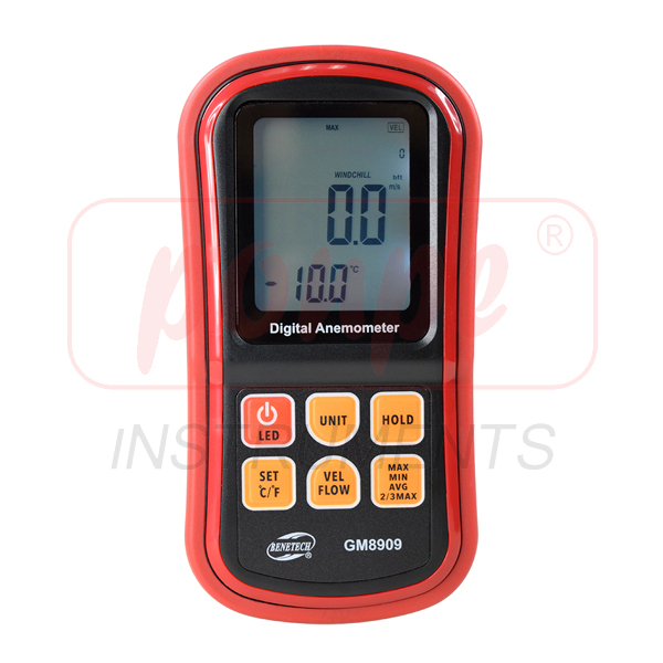 GM8909 / BENETECH เครื่องวัดความเร็วลม Anemometer