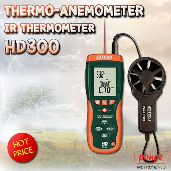 HD300 EXTECH เครื่องวัดปริมาตรลม CFM/CMM + IR