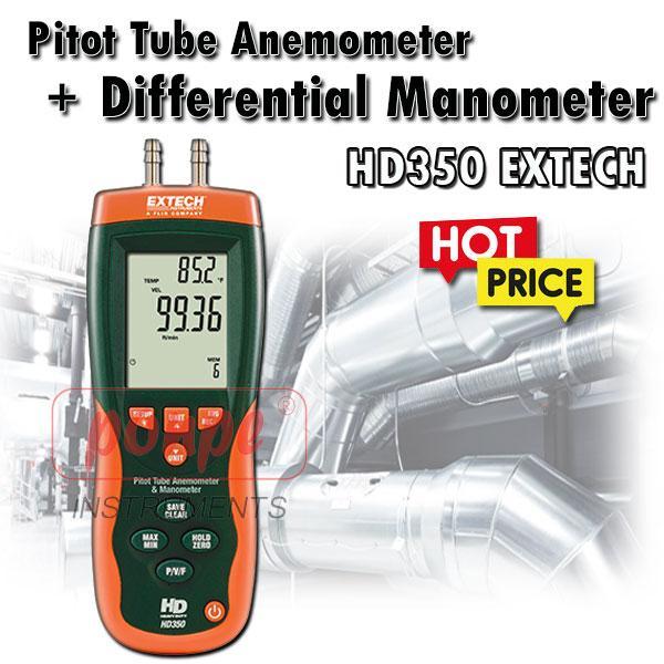 HD350 EXTECH เครื่องวัดความดันลม Differential Manometer
