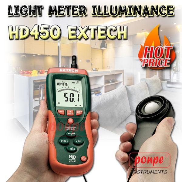 HD450 / EXTECH เครื่องวัดแสง Datalogging Light Meter