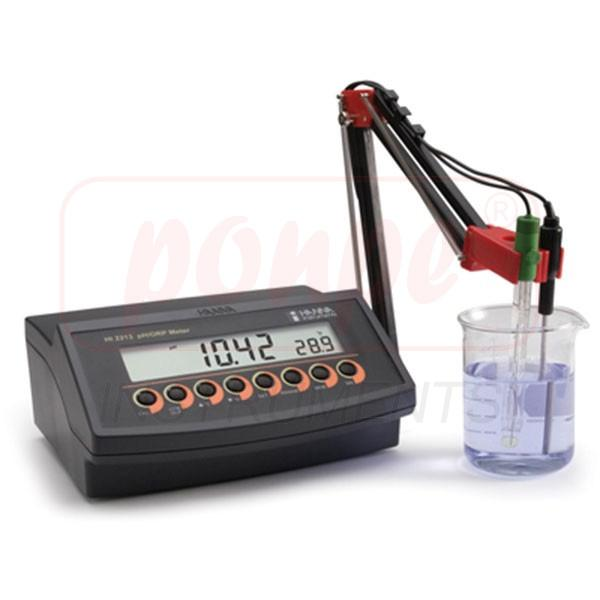 pH / ORP Benchtop Meter with Three Point Calibration HI2213