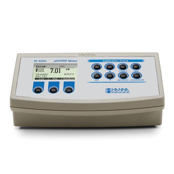 HI3220 HANNA เครื่องวัดกรดด่าง โออาร์พี Benchtop pH/mV Meter