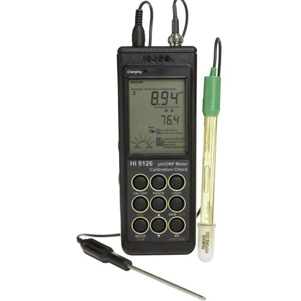 HI9126 HANNA เครื่องวัดกรดด่าง pH/mV Meter with CAL Check