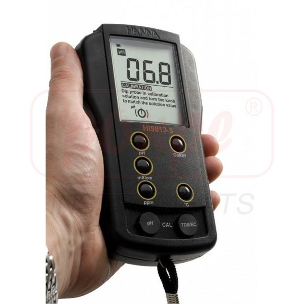 Portable pH/EC/TDS/Temperature Meter HI9813-6