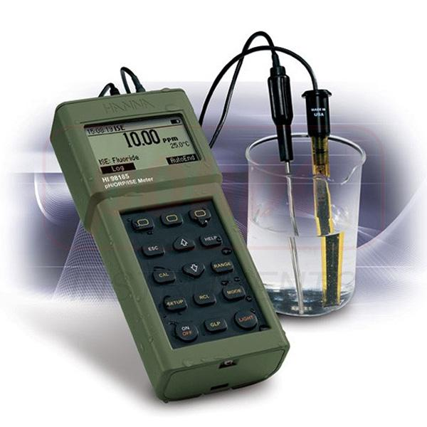 pH/ORP/ISE Waterproof Portable Meter HI98185