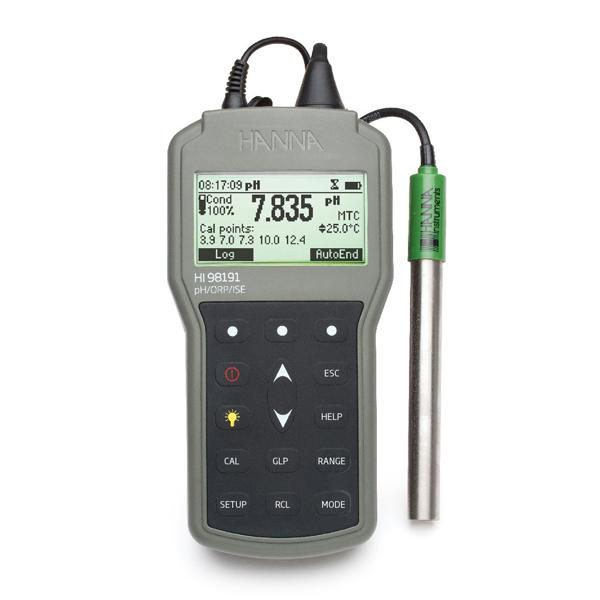 HI98191 HANNA Waterproof Portable pH/ORP/ISE Meter