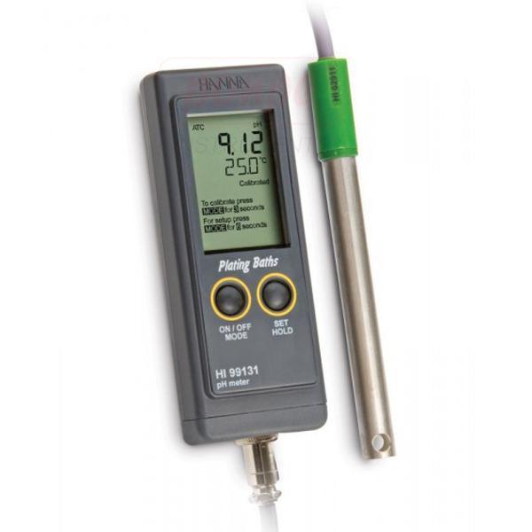 Portable pH Meter for Plating Baths HI99131