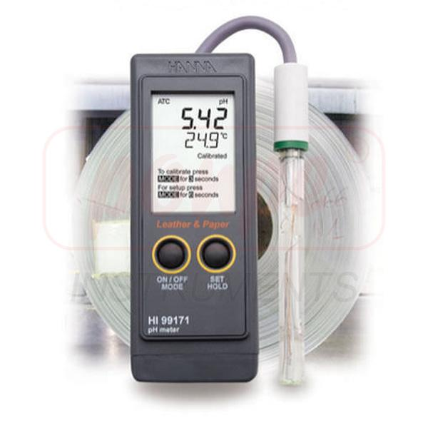 Portable pH Meter for Leather and Paper HI99171