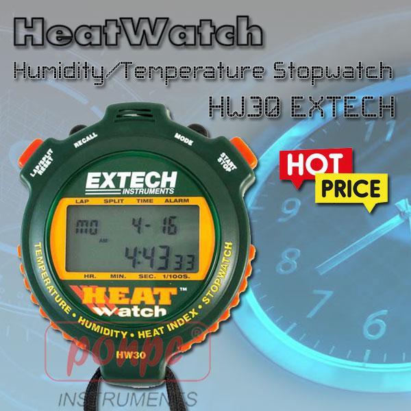 HW30 / EXTECH นาฬิกาจับเวลา พร้อม เครื่องวัดอุณหภูมิ ความชื้น
