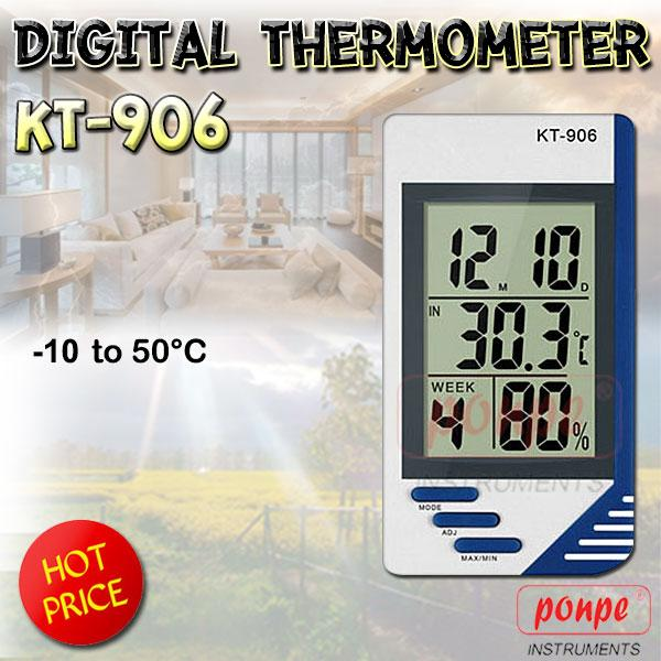 KT-906 / JEDTO เครื่องวัดอุณหภูมิ ความชื้น Digital Thermometer