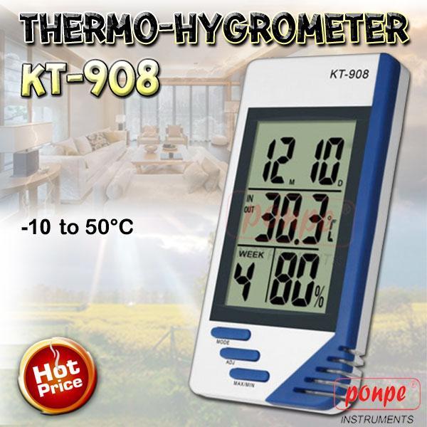 KT-908 / JEDTO เครื่องวัดอุณหภูมิ ความชื้น Thermo-Hygrometer
