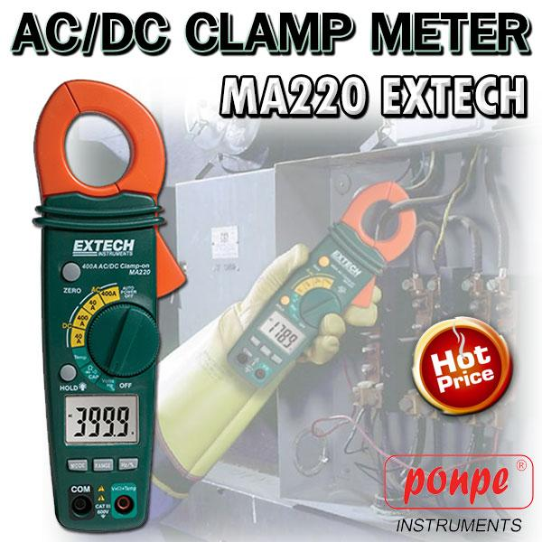 MA220 Extech AC/DC Clamp Meter