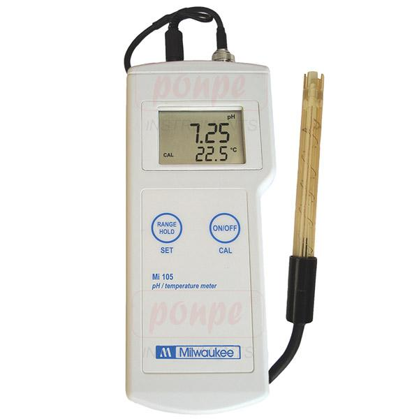 Mi105 Milwaukee เครื่องวัด pH และอุณหภูมิ
