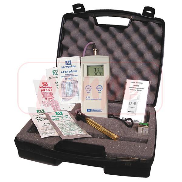 MI106 Milwaukee เครื่องวัดค่ากรดด่าง pH / ORP / Temperature Portable Meter