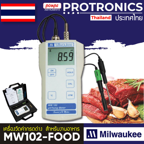 MW102-FOOD Milwaukee pH meter  for measuring pH in meat