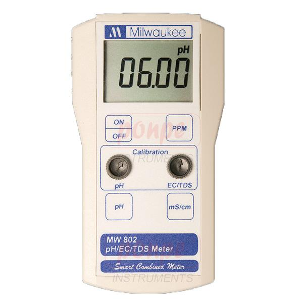 MW802 Milwaukee เครื่องวัดค่า pH /EC / TDS