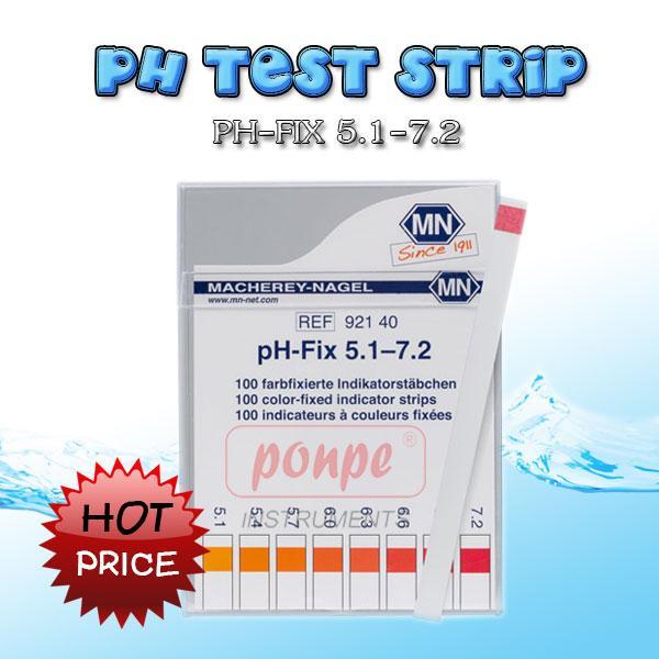 ก้านวัดกรด ด่าง pH Test Strip pH-Fix 5.1-7.2