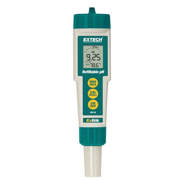 PH110 Temp/PH meter Waterproof Refillable ExStik