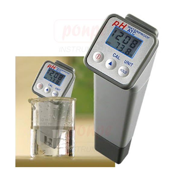 8690 Professional Waterproof Digital PH-Meter, Dual Display
