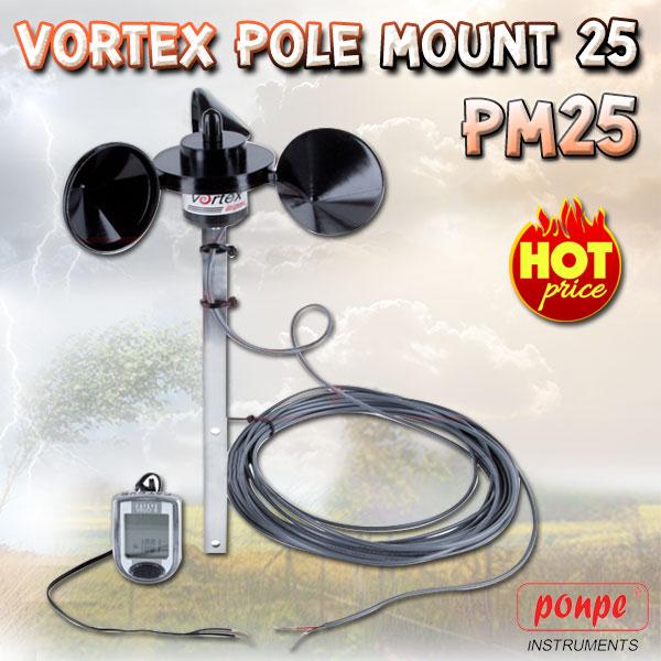 PM25 / Inspeed เครื่องวัดความเร็วลม Vortex Pole Mount 25'