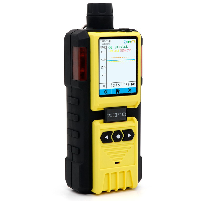 PONPE 322-1 Gas Meter CO / O2 / LEL / H2S Multi Gas Detector has a built-in pump