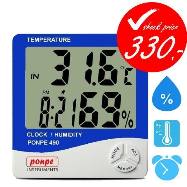 PONPE 490 เครื่องวัดอุณหภูมิ ความชื้น