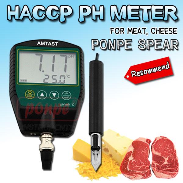 PONPE SPEAR pH Meter pH HACCP for  Meat,Cheese เครื่องวัดค่า pH สำหรับอาหารจำพวกเนื้อสัตว์ชีส