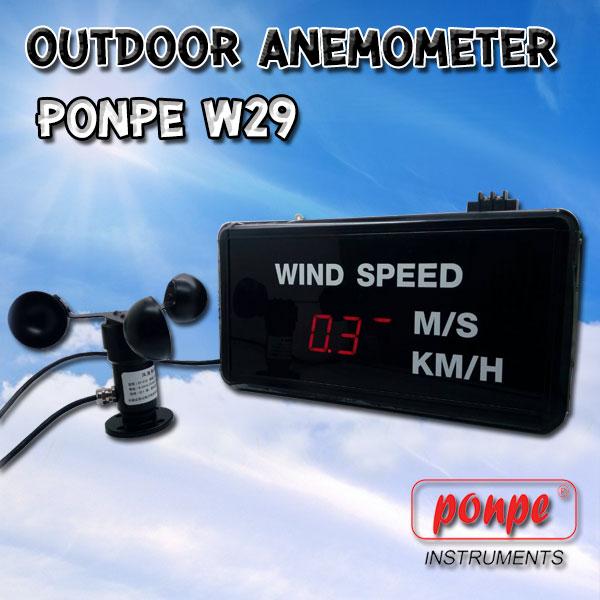 PONPE W29 / PONPE INSTRUMENTS เครื่องวัดความเร็วลม ตั้งเตือนได้