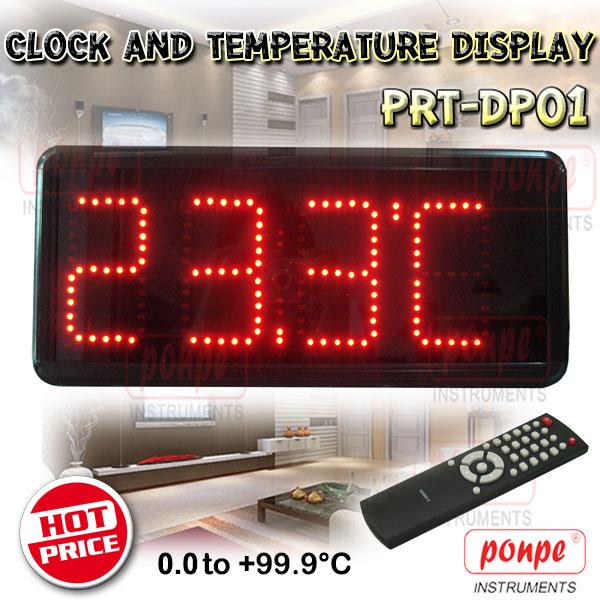 PRT-DP01 / CMT ป้ายแสดงเวลาและอุณหภูมิ Clock and Temperature Display