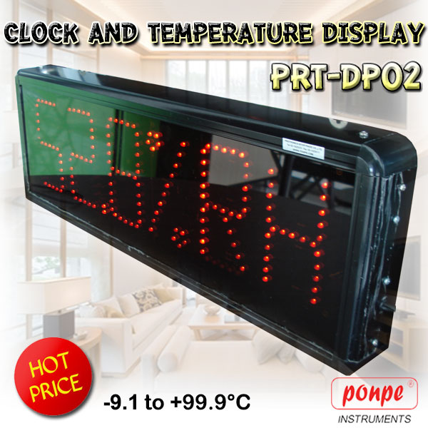 PRT-DP02 Humidity and Temperature Display ป้ายแสดงอุณหภูมิ ความชื้น