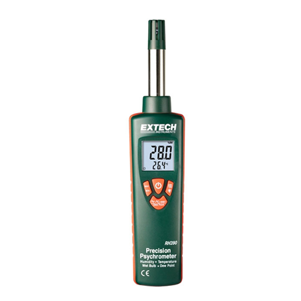 RH390-NIST / Extech Digital Hygro-Thermometer Psychrometer with NIST