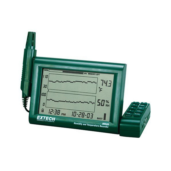 RH520A-NIST / Extech Humidity and Temperature Chart Recorder with RS-232 Computer Interface and NIST
