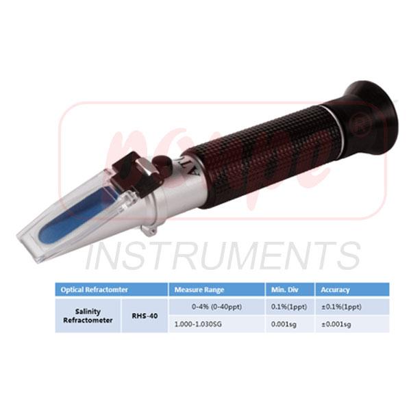 RHS-40ATC JEDTO Salinity Refractometer เครื่องวัดความเค็มแบบกล้องส่อง โดยใช้การหักเหของแสง