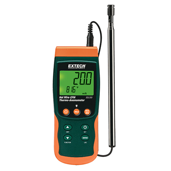 SDL350-NIST / Extech Hot Wire CFM Thermo-Anemometer/Datalogger