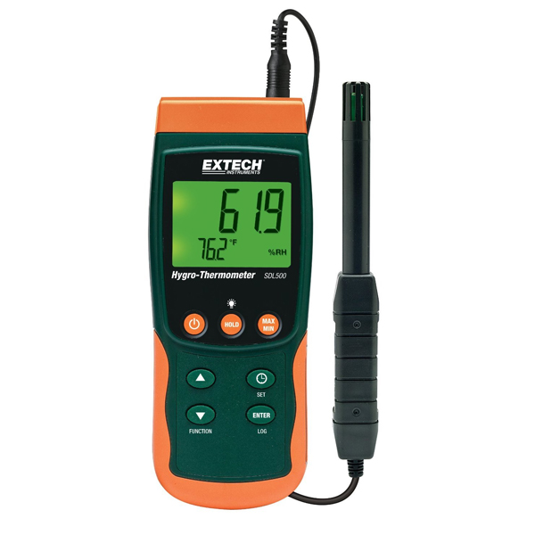 SDL500-NIST / Extech Hydro-Thermometer SD Logger with NIST