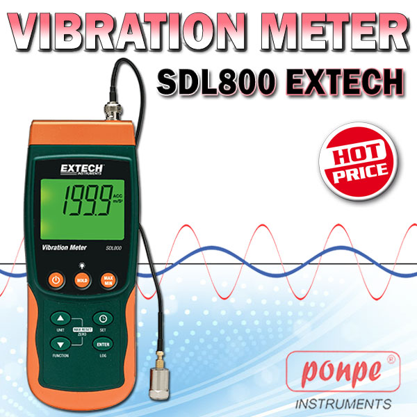 Vibration Meter/Datalogger SDL800