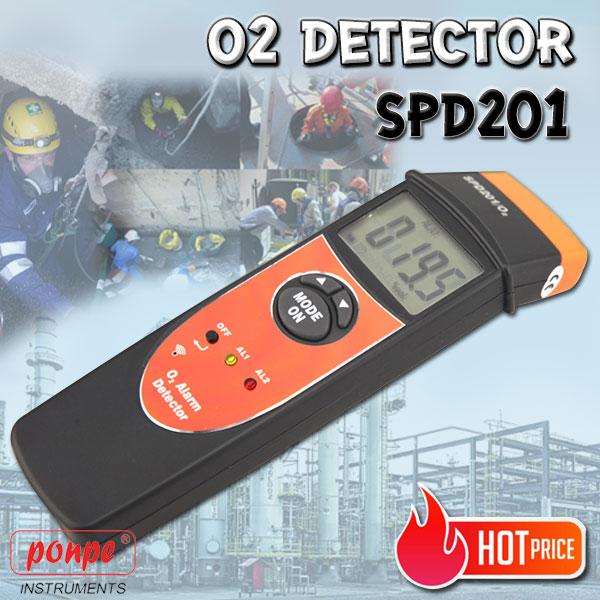 SPD201 เครื่องวัดออกซิเจน O2 Detector