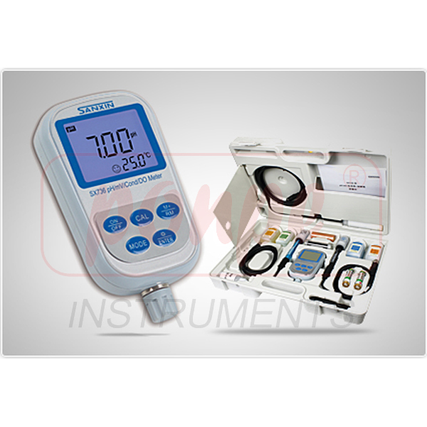 SX736 SANXIN Portable pH/Conductivity/DO Meter