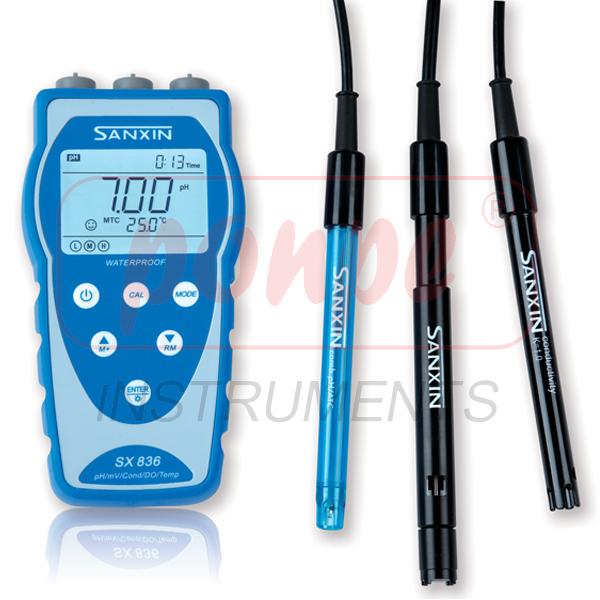 เครื่องวัดค่ากรดด่าง / ความนำไฟฟ้า / ออกซิเจนในน้ำ / อุณหภูมิ รุ่น SX800 SERIES
