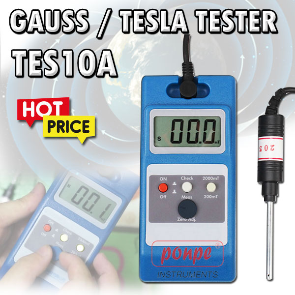TES10A / JEDTO  เครื่องวัดสนามแม่เหล็ก Gauss / Tesla  Tester