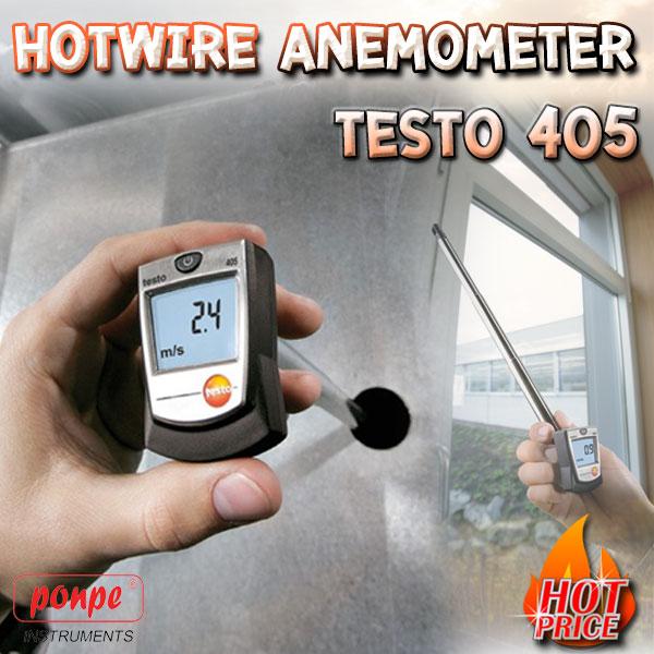 TESTO 405 เครื่องวัดความเร็วลมแบบ Hotwire