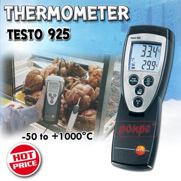 เทอร์โมมิเตอร์ เครื่องวัดอุณหภูมิ TESTO 925